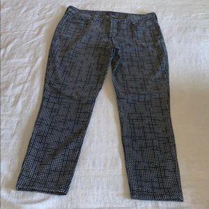 NYDJ Gray Check Ankle Chino 8